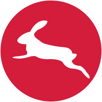 springender Hase Kaninchen Häschen Bunny