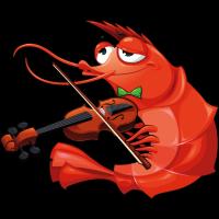 Krabbe spielt Violine