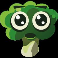 Lustiger Brokkoli