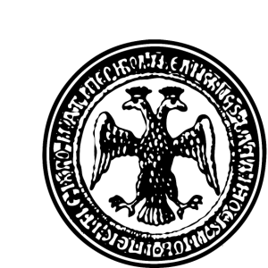 Münze zwei Kopf Adler