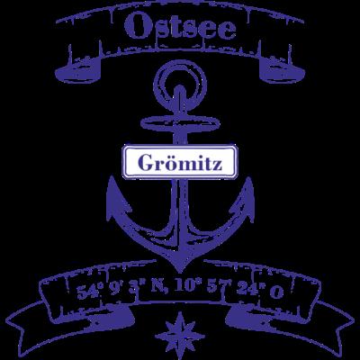 Groemitz blau -  - Tt,Strand,Sonne,Schleswig-Holstein,Ostsee,Nordsee,Koordinaten,Görlitz,Blau weiss,Anker