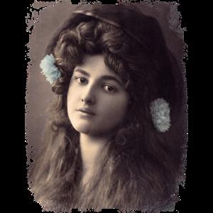 Vintage Dame mit toller Frisur