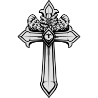 Kreuz mit Flügeln