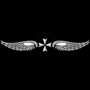 Tribal geflügelte maltesische Kreuz Tattoo