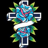 Kreuz mit Rosen Tattoo