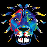 Fresh colored Lion