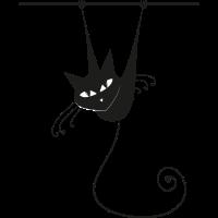 Hängende Katze