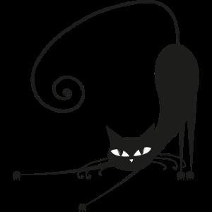 Stretching Katze