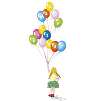 Geburtstag Ballons Baby
