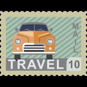 Reise Post Briefmarke
