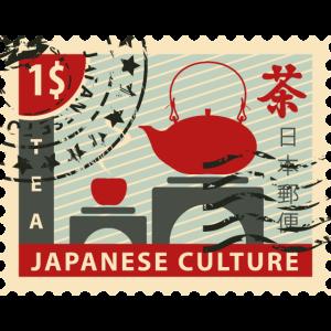 Japanische kultur stempel