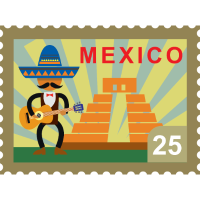 Mexiko poststempel