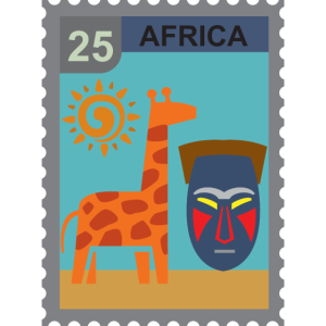 Afrika poststempel
