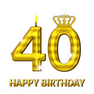 40 - Happy Birthday - Geburtstag - Zahl Gold