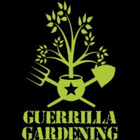 Guerrilla Gartenarbeit Logo Militär Stil T-Shirt