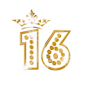 16 - Birthday - Queen - Gold - Burlesque