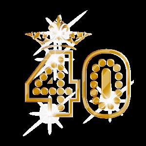 40 - Birthday - Queen - Gold - Burlesque