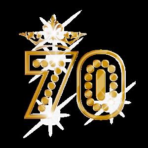 70 - Birthday - Queen - Gold - Burlesque