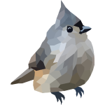 Polygon Art: Tufted Titmouse