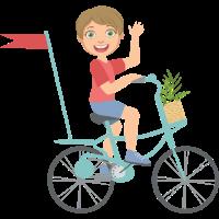 Kid reiten ein bik