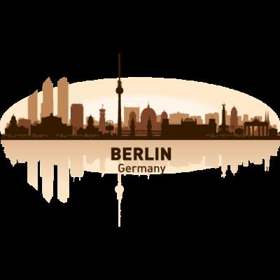 Berlin -  - simpel,freedesigns17,dekorativ,Symbole,Silhouette,Länder,Hauptstadt,Entwurf,Deutschland,Berlin,Abstrakte Kunst