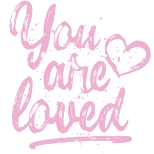 You are loved mit Herz - rosa