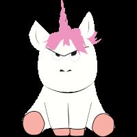 Grumpy Unicorn Einhorn