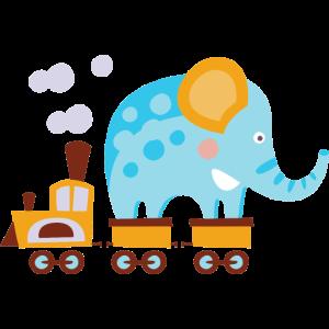 Elefanten im Zug