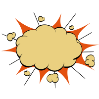 Explosions-Comic-Stil