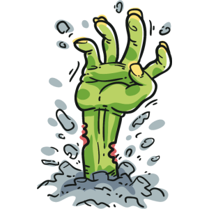 Zombie Hand erwachen