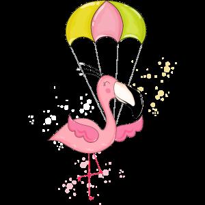 Fliegende Flamingo