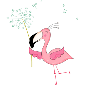 Fliegende Flamingo