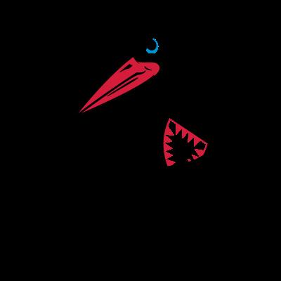 stork_mascot_white - die störche kommen... holstein kiel aufstieg 2017 - t-shirt,störche,nie wieder,ksvh,fußba,fan schirt,Storch,Maskottchen,Liega,Kieler,Kiel,Holstein kiel t-Shirt,Holstein,Fussball,Fan,Aufstieg,2017,2.Liega,2 Liega
