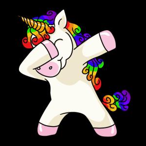 Unicorn Dabbing Einhorn T-Shirt