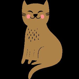 fröhliche Katze