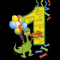 1 erster Geburtstag mit Drachen