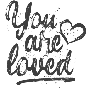 You are loved mit Herz - grau