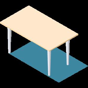 Schreibtisch isometrisch