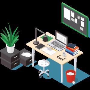 Büro isometrisch