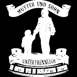 Mutter und Sohn - unzertrennlich