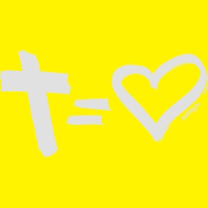 Cross = Heart WHITE // Cross = Love WHITE