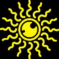 strahlende Sonne Miss Sunshine Sommer Stern Star
