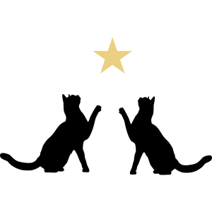 Zwei Stern Katzen