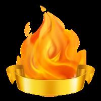 Flammen-Trophäe