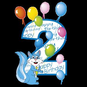 Nach Eichhörnchen Geburtstag blau 2 Jahre