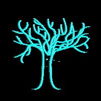 Tree of life, hellblau