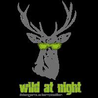 """Hirsch mit Sonnenbrille """"wild at night"""""""