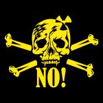 Totenkopf / Skull NO Nuclear Power / NEIN Danke z