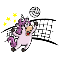 Volleyball Einhorn