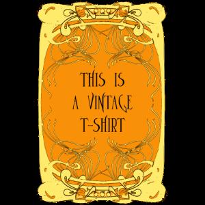 Dieses ist ein Vintages T-Shirt, Art Nouveau Art